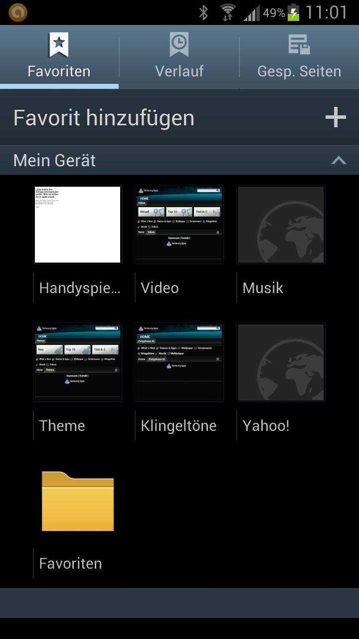 Standard Favoriten löschen - Galaxy S3